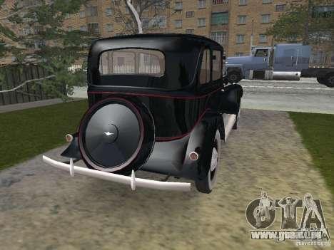 GAZ 11-73 pour GTA San Andreas sur la vue arrière gauche
