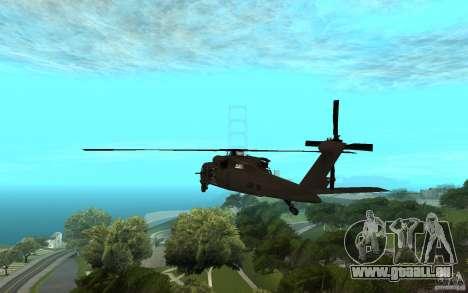 MH-60L Blackhawk für GTA San Andreas linke Ansicht