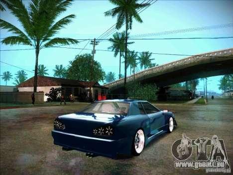 Elegy JDM Tuned pour GTA San Andreas sur la vue arrière gauche