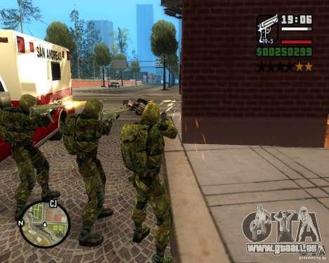 Regroupant les harceleurs de la liberté pour GTA San Andreas quatrième écran