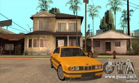 BMW E34 535i Taxi pour GTA San Andreas vue arrière