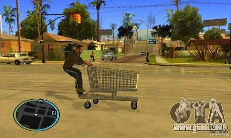 Shopping Cart Faggio V2 pour GTA San Andreas vue intérieure