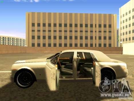 Rolls-Royce Phantom V16 für GTA San Andreas Unteransicht