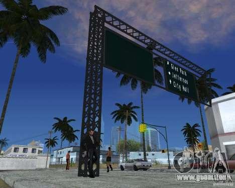 Route signes v1.0 pour GTA San Andreas troisième écran
