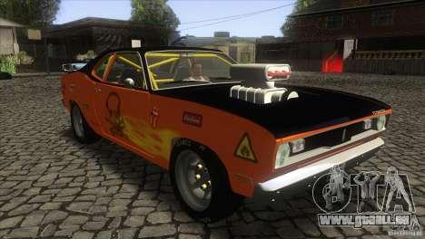 Plymouth Duster 440 pour GTA San Andreas vue arrière