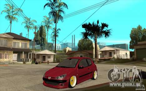 Peugeot 206 GTI für GTA San Andreas