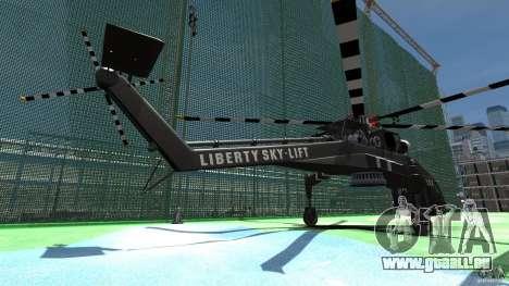 Liberty Sky-lift pour GTA 4 Vue arrière de la gauche