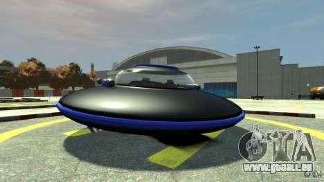 UFO neon ufo blue pour GTA 4 Vue arrière de la gauche