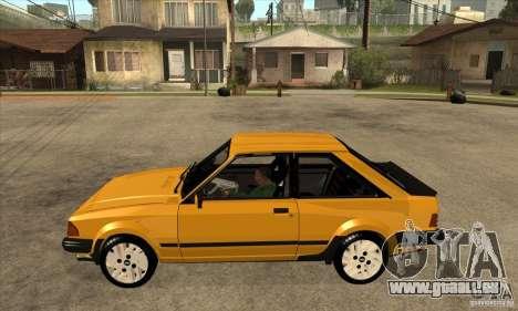 Ford Escort XR3 1986 pour GTA San Andreas laissé vue