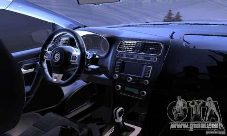 Volkswagen Polo GTI Stanced für GTA San Andreas obere Ansicht