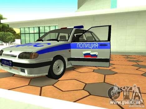 ВАЗ 2114 Police pour GTA San Andreas vue intérieure