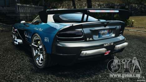 Dodge Viper SRT-10 ACR ELITE POLICE [ELS] für GTA 4 hinten links Ansicht