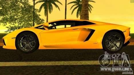 Lamborghini Aventador LP 700-4 für GTA Vice City Seitenansicht