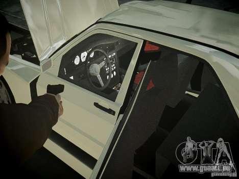 Mercedes 190E Evo2 pour GTA 4 est une vue de l'intérieur