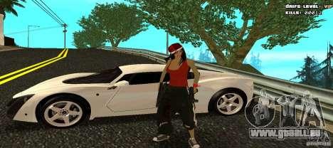 Chicano Chick Skin für GTA San Andreas