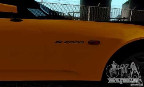 Honda S2000 Tunable pour GTA San Andreas sur la vue arrière gauche