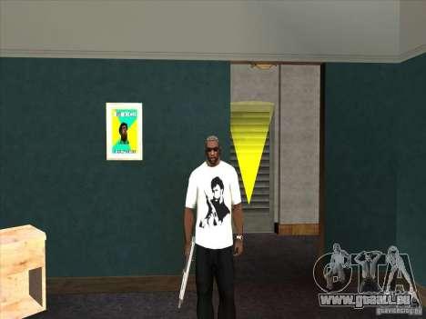 Chuck Norris t-shirt für GTA San Andreas