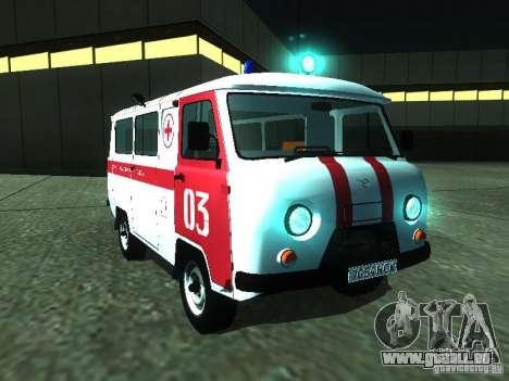 UAZ 3962 ambulance pour GTA San Andreas