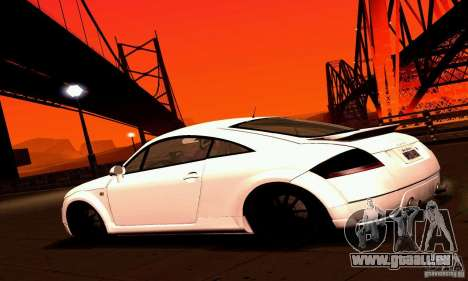 Audi TT Light Tuning pour GTA San Andreas laissé vue