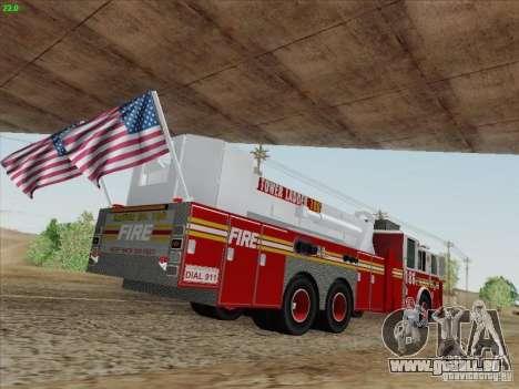 Seagrave Marauder. F.D.N.Y. Tower Ladder 186 pour GTA San Andreas laissé vue