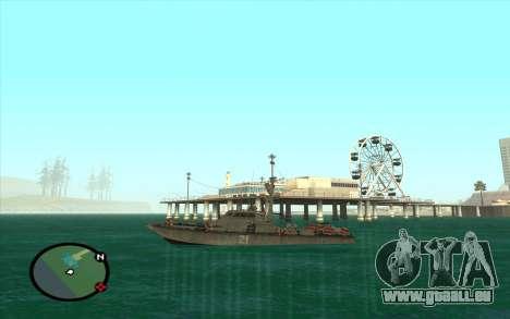 Bateau militaire de CODMW3 pour GTA San Andreas vue de droite