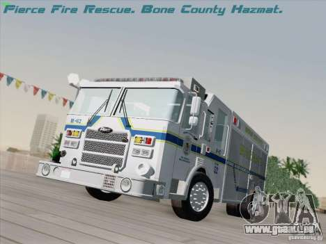 Pierce Fire Rescues. Bone County Hazmat für GTA San Andreas