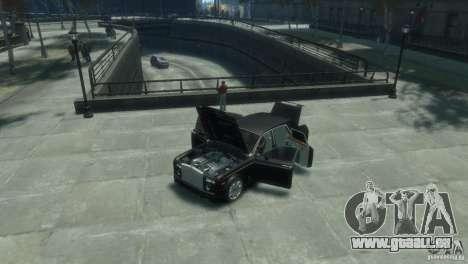 Rolls-Royce Phantom pour GTA 4 est une vue de l'intérieur