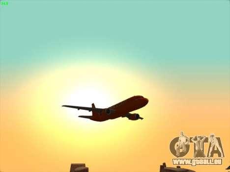 Airbus A320-214 EasyJet 200th Plane pour GTA San Andreas vue de dessous
