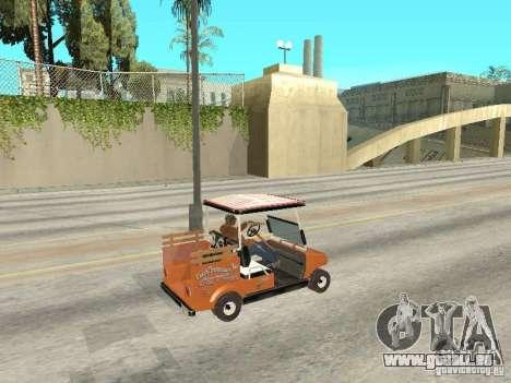 Golfcart caddy für GTA San Andreas zurück linke Ansicht