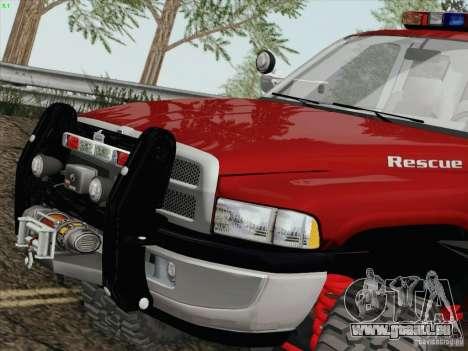 Dodge Ram 3500 Search & Rescue pour GTA San Andreas laissé vue