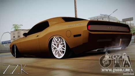 Dodge Challenger Socado Com Rotiform FIXA pour GTA San Andreas laissé vue
