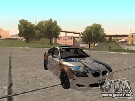BMW M5 E60 für GTA San Andreas obere Ansicht