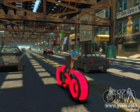 Motorrad des Throns (neonrot) für GTA 4 hinten links Ansicht