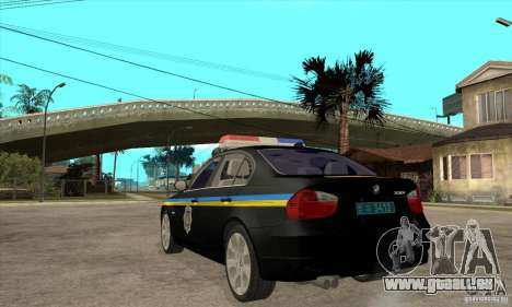 BMW 3 Serie DPS für GTA San Andreas zurück linke Ansicht