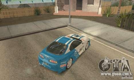 Toyota Supra Tunable 2 für GTA San Andreas Unteransicht