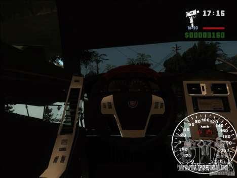 Cadillac XLR pour GTA San Andreas vue de côté