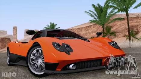Pagani Zonda F pour GTA San Andreas vue de dessus