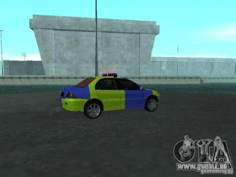 Mitsubishi Lancer-Polizei für GTA San Andreas rechten Ansicht