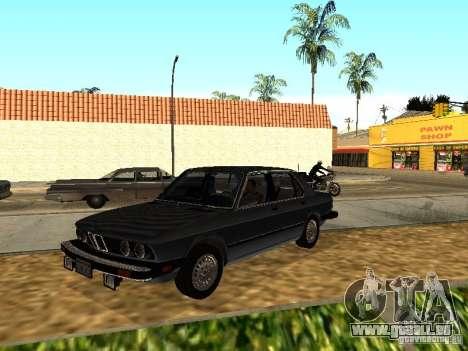 BMW 535is E28 pour GTA San Andreas vue arrière