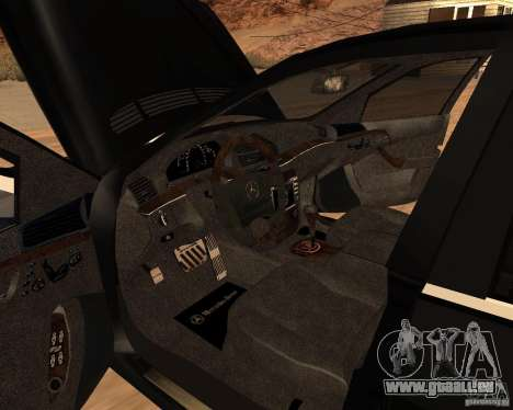 Mercedes-Benz S65 AMG W220 pour GTA San Andreas sur la vue arrière gauche