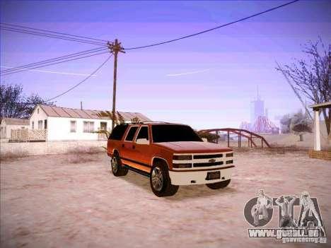 Chevrolet Suburban 1998 pour GTA San Andreas vue arrière