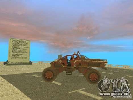 Wingy Dinghy v1.1 pour GTA San Andreas sur la vue arrière gauche