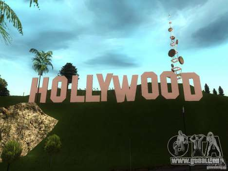 Le signe Hollywood pour GTA San Andreas deuxième écran