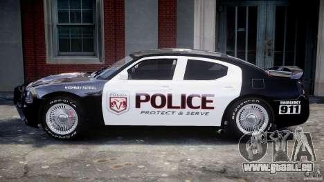 Dodge Charger SRT8 Police Cruiser pour GTA 4 Vue arrière de la gauche