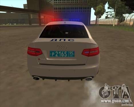 Audi RS6 2010 DPS pour GTA San Andreas vue de côté
