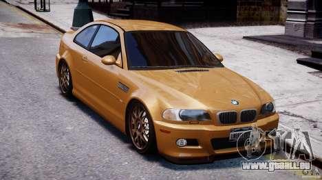 BMW M3 E46 Tuning 2001 v2.0 pour GTA 4 est une vue de l'intérieur