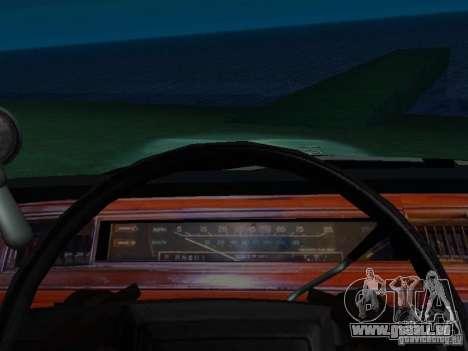 Ford Crown Victoria LTD 1992 SFPD pour GTA San Andreas vue intérieure