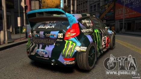 Ford Fiesta Rallycross Ken Block (Hoonigan) 2013 pour GTA 4 Vue arrière de la gauche