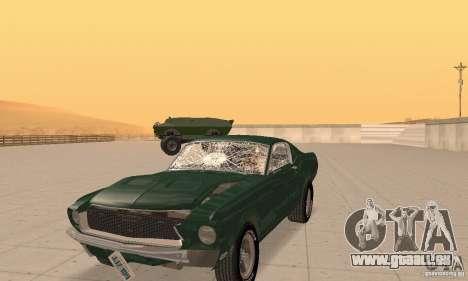 Ford Mustang Bullitt 1968 v.2 für GTA San Andreas Innenansicht