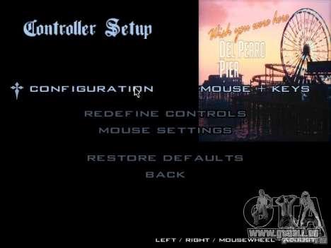 Le menu principal dans le style de GTA 5 pour GTA San Andreas cinquième écran